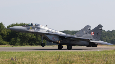 40 - Mikoyan-Gurevich MiG-29A Fulcrum A - Poland - Air Force