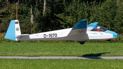 D-1670 - Schleicher ASK-13 - Deutsche Alpensegelflugschule Unterwössen