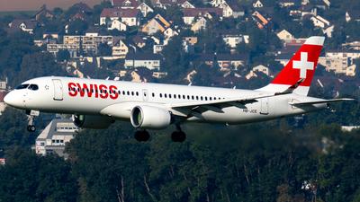 A picture of HBJCE - Airbus A220300 - Swiss - © Derek MacPherson