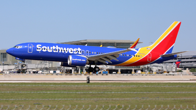 A picture of N8702L - Boeing 737 MAX 8 - Southwest Airlines - © Michael Sender