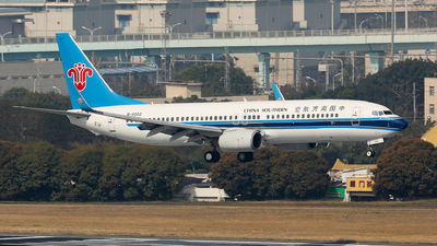 A picture of B5022 - Boeing 73781B - China Southern Airlines - © Xuanting Wang