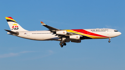 A picture of OOABA - Airbus A340313 - Air Belgium - © Matteo Lamberts