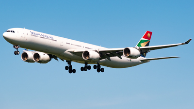 A picture of ZSSND - Airbus A340642 - South African Airways - © DrowsySpotting