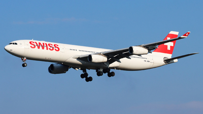 A picture of HBJMH - Airbus A340313 - Swiss - © Joost Alexander
