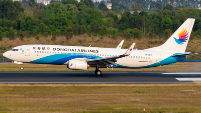 A picture of B7631 - Boeing 73783Z - Donghai Airlines - © tybasa
