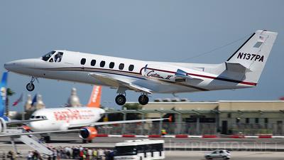 A picture of N137PA - Cessna 550 Citation II - [5500658] - © Buzu