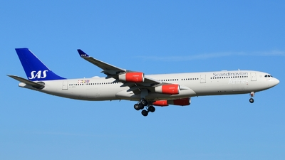 OY-KBA - Airbus A340-313X - Scandinavian Airlines (SAS)