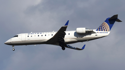 A picture of N412AW - Mitsubishi CRJ200LR - United Airlines - © DJ Reed - OPShots Photo Team