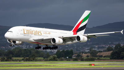 A picture of A6EEF - Airbus A380861 - Emirates - © Kyle McKinlay