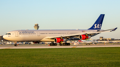 OY-KBC - Airbus A340-313X - Scandinavian Airlines (SAS)