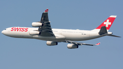 A picture of HBJMH - Airbus A340313 - Swiss - © BobH