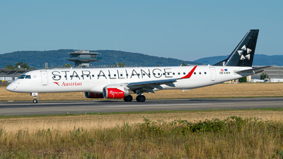 A picture of OELWH - Embraer E195LR - Austrian Airlines - © Stefan Gschwind