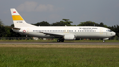 A-7306 - Boeing 737-4U3 - Indonesia - Air Force