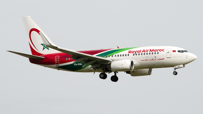A picture of CNRNL - Boeing 7377B6 - Royal Air Maroc - © Paul Stam