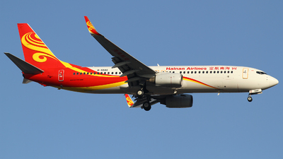 A picture of B5580 - Boeing 73784P - Hainan Airlines - © M.T