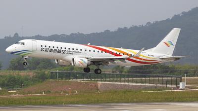A picture of B3115 - Embraer E190LR - Colorful GuiZhou Airlines - © SEN BAI