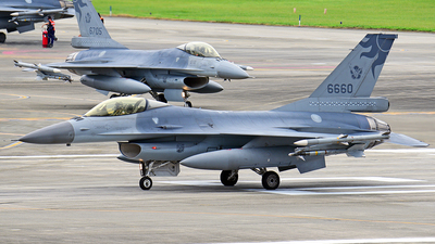 6660 - General Dynamics F-16AM Fighting Falcon - Taiwan - Air Force