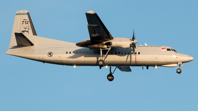 712 - Fokker 50 - Singapore - Air Force
