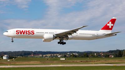 A picture of HBJNI - Boeing 7773DE(ER) - Swiss - © Sebastian Sowa