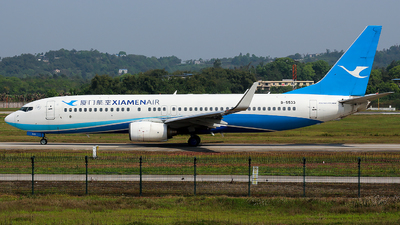 A picture of B5533 - Boeing 73785C - Xiamen Air - © SZ4509
