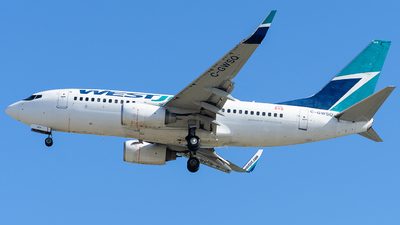 A picture of CGWSQ - Boeing 7377CT - WestJet - © CYVR Zhourong Yin