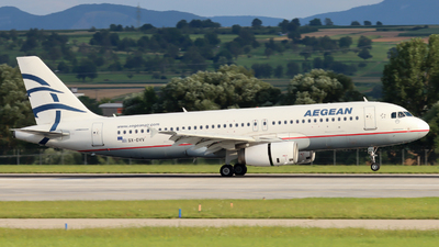 A picture of SXDVV - Airbus A320232 - Aegean Airlines - © Justin Stöckel