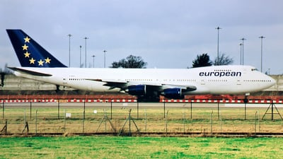 G-BDXF - Boeing 747-236B - European Aviation (EAL)