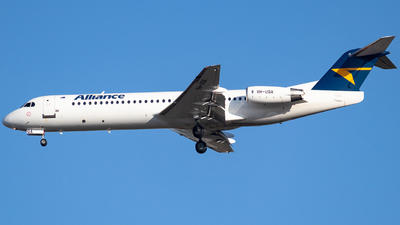 A picture of VHUQA - Fokker 100 - Alliance Airlines - © Josh Deitz