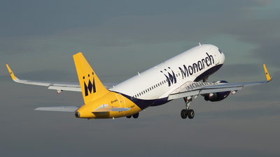 G-ZBAS - Airbus A320-214 - Monarch Airlines