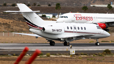 9H-WCF - Raytheon Hawker 800XP - Hyperion Aviation