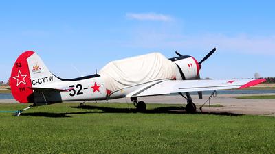 C-GYTW - Yakovlev Yak-52TW - Private