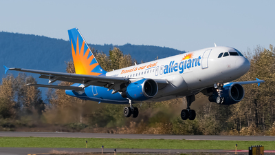 A picture of N328NV - Airbus A319111 - Allegiant Air - © Logan m