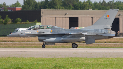 FB-18 - General Dynamics F-16BM Fighting Falcon - Belgium - Air Force