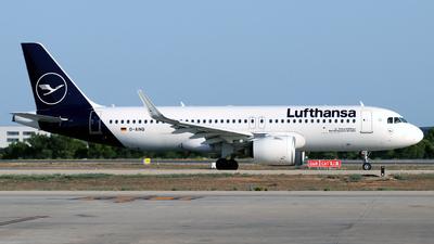 A picture of DAINQ - Airbus A320271N - Lufthansa - © Javier Rodriguez - Amics de Son Sant Joan