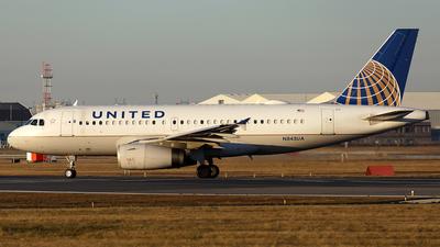A picture of N843UA - Airbus A319131 - United Airlines - © Tianyi Liu