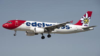 A picture of HBIHY - Airbus A320214 - Edelweiss Air - © Kurt Kolb