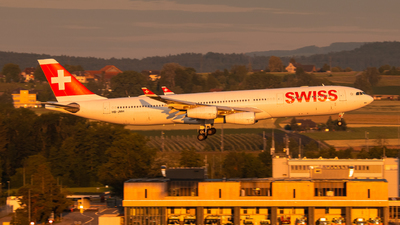 A picture of HBJMH - Airbus A340313 - Swiss - © Luis Singer