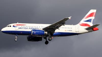 A picture of GEUPD - Airbus A319131 - British Airways - © n94504