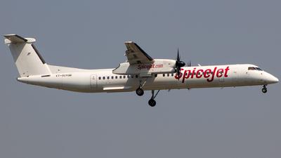 A picture of VTSUV - De Havilland Canada Dash 8400 - SpiceJet - © Aneesh Bapaye