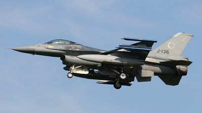 J-136 - General Dynamics F-16AM Fighting Falcon - Netherlands - Royal Air Force