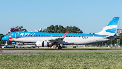 LV-CET - Embraer 190-100IGW - Austral Líneas Aéreas