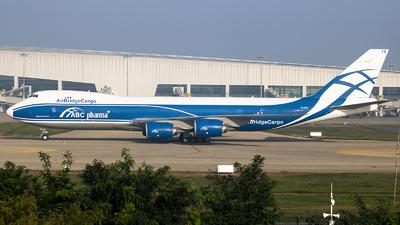 A picture of VQBFE - Boeing 74783Q(F) - AirBridgeCargo Airlines - © Jeppesen_Tu