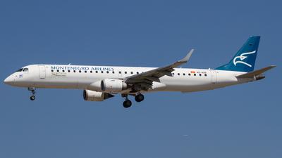 A picture of 4OAOB - Embraer E195LR - Montenegro Airlines - © David Schilcher