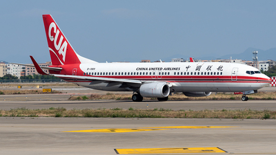 A picture of B1989 - Boeing 73789P - China United Airlines - © ZGGG RWY01