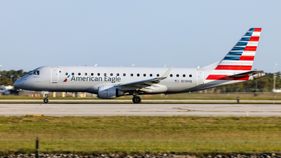 A picture of N119HQ - Embraer E175LR - American Airlines - © John Mageropoulos