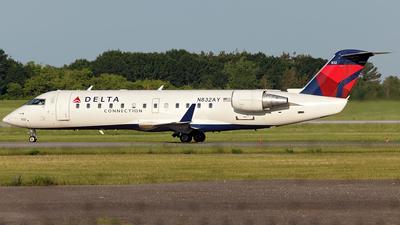A picture of N832AY - Mitsubishi CRJ200LR - Delta Air Lines - © TOMBARELLI FEDERICO