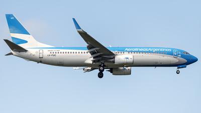 LV-FUC - Boeing 737-8SH - Aerolíneas Argentinas