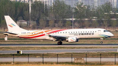 A picture of B3225 - Embraer E190LR - Colorful GuiZhou Airlines - © wanglp1988