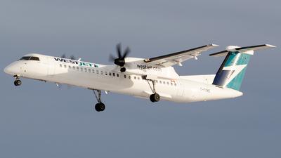 A picture of CFOWE - De Havilland Canada Dash 8400 - WestJet - © Paul Nitychoruk