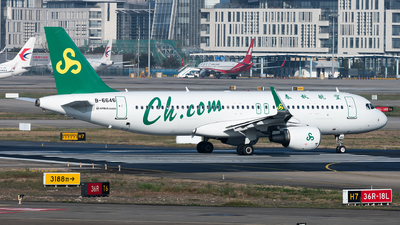 A picture of B6646 - Airbus A320214 - Spring Airlines - © Lazy Clutch